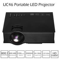 UC46 Mini proiettore LED 1200 lumen Full HD 1080P Proiettore DLNA Miracast WiFi VGA USB Ingresso Home Cinema Video Proiettore V1984