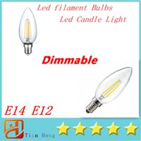 10PCS LED Candle Lamp C35 C35T COB filament bulb chandelier ...