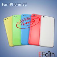 Pour iPhone 5C Remplissage Complet Retour Logement Remplacement de Remplacement d'Alliage Remplacement gratuit