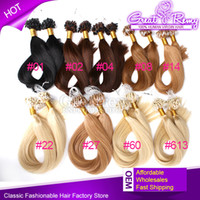 100% Brazilian#1#4 #8 #14 #613Micro Ring Loop Hair Extension...