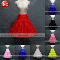Colorful Red Coral Black Tea Length Short Mini Knee Swing Sk...