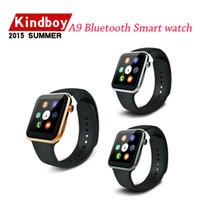 2015 nouvelle smartwatch intelligente montre A9 Bluetooth pour Apple iPhone Samsung Android Phone Envoi gratuit à partir kindboy