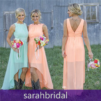 Hi- Lo Chic Bridesmaid Dresses For 2015 Fall Winter Maid of H...