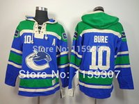 10 Pavel Bure Hoodies Jersey - Blue Free Shipping