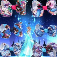 Frozen Snow Queen Children Bowknot Barrttes Anna Alsa Girls ...
