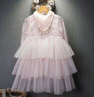 Princess Girls Tulle Hollow Spring Autumn Dresses Kids Cloth...