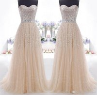 2016 IN STOCK Beaded Prom Dresses Evening Gowns Lace Up Back...