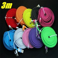 10ft 6ft 3FT Braided Micro USB Data charger Cable for Samsun...