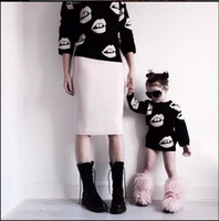 2015 Family Clothing Mother And Daughter Clothes Sexy Lips M...