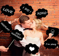 Nouveau Arrivée 10Pcs Photo Booth Prop DIY Bubble Speech Chalk Board Wedding Party Photo stand