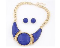 Fashion Brand Jewelry Sets Silver Gold Plated Round Pendant ...