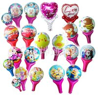 Cartoons Metallic Balloons with Stick Princess Birthday Part...