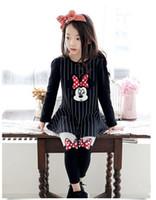 2015 Minnice Mickey Mouse Dot Bow Striped Ruffle Dress Kids ...