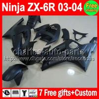 7gifts For KAWASAKI NINJA Flat black ZX6R 03- 04 ZX- 6R ZX636 ...