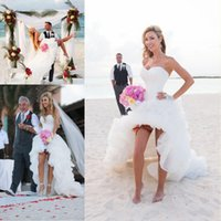 Vestidos De Noiva Sexy Strapless White Short Beach Wedding D...