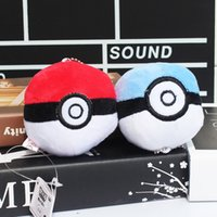 Poke Ball 8cm Ash Plush Keychains Pendants Toys Soft Plush T...