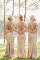 Sparkly and Glittery Gold Bridesmaid Dresses 2015 New Charmi...