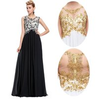 Grace Karin Sleeveless Lace Chiffon Long Bridesmaids Dress B...