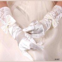$2. 99 White Ivory Gloves Opera Arm Long Satin Birdal Gloves ...
