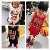 2015 Leisure Bulls Girls Boys Basketball Sets Sleeveless Top...