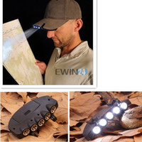 Bright 5 LED Under the Brim Cap Hat Light Head Light Fishing...