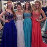 Prom Dresses 2015 Prom Dress with Cap Sleeves Sheer Neckline...