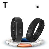 Смарт часы I5 Bluetooth 4.0 + EDR Спорт сна Отслеживание здоровье Фитнес Шагомер Смарт часы мульти цвета DHL SmartWatch оптом