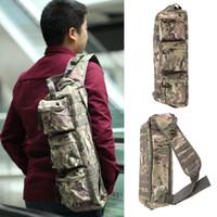 Spalla di nylon di sport esterno tattico militare zaino Messenger Versipack Bag Pack per Equitazione Escursionismo Pesca Y0336