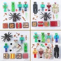 4 styles Minecraft creeper Building Block Toys minecraft spi...