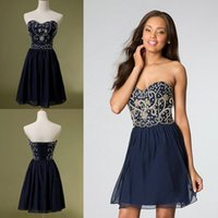 Prom Girls Inspired Navy Blue Bridesmaid Dresses Cheap Under...