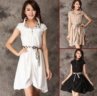 Women' s Plus Size Dresses Clsaaic Plaid Irregular Dress...