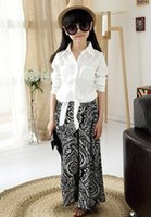 Cotton Solid Long Sleeve Sashes Tops + Nationality Flowers P...