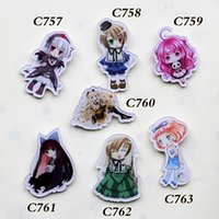 8 different style popular new cute Anime lovely girls badges...