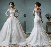 2016 Amelia Sposa Mermaid Wedding Dresses Sexy Lace Applique...
