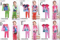 5 Style Girl Frozen fever Pajamas New Elsa Anna cotoon long ...