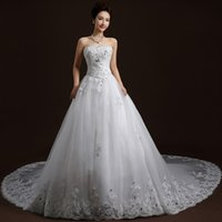 New Design Bride Wedding Dress Strapless Ball Gown Princess ...