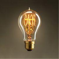 Wholesale- A19 E27 Edison Lamp Silk Flyspun Bulb Classic Tung...