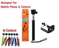 50sets (50pcs monopode + 50pcs pince porte) de téléphone selfie Rotary Extensible Handheld Trépied mobile Manfrotto