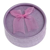 60pcs lot Purple Cylindrical Gift Box Bowknot Floral Print J...