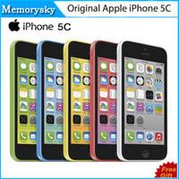 Original reacondicionado desbloqueado iPhone de Apple 5C teléfonos celulares 16GB 32GB dual core WCDMA + WiFi + GPS 8MP cámara 4.0