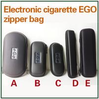 Cas Ego Zipper cuir longue Pouch Carry Box E Cigarettes Étui de transport pour Kit Evod CE4 CE5 MT3 Protank Vaporisateur Pen Starter