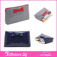 Swimsuit Bag Stripe Dot Extra Large Cosmetic Bag Bowknot Wat...