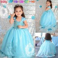 New Frozen Girls Party Dresses Baby Queen Elsa Princess Kids...