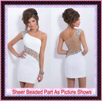 2015 Nude Sexy White Homecoming Party Dresses Cheap Under 10...
