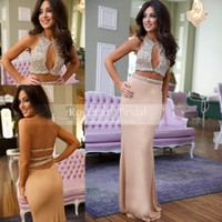 2k15 Two Pieces Prom Dresses Sexy Mermaid Crew Keyhole Bust ...