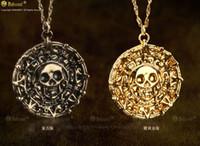 Пираты Карибского Ювелирного ацтеков Золотая монета Ожерелье Мужчины Череп свитер Подвеска