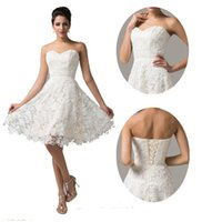 Grace Karin New Vintage Ivory Lace Cocktail Dresses Short Sl...