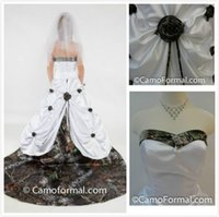 2015 Camo Camouflage Wedding Dresses with Detachable Train S...