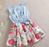 Girs Dresses 2015 Summer Korean Style Children Sleeveless Co...