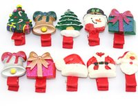 Lovely Cute Cartoon Chrismas Hair Clips Xmas Hat Clip Childr...